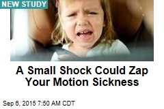 A Small Shock Could Zap Your Motion Sickness