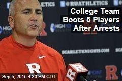College Football Players Kicked Off Team After Arrests