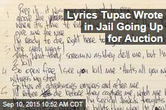 Lyrics Tupac Wrote in Jail Going Up for Auction