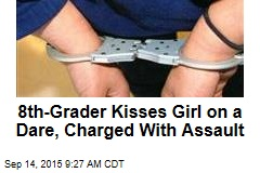8th-Grader Kisses Girl on a Dare, Charged With Assault