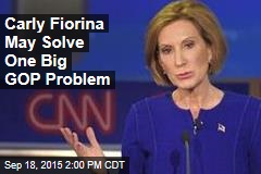 Carly Fiorina May Solve One Big GOP Problem