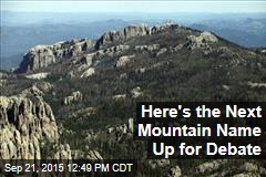 Here's the Next Mountain Name Up for Debate