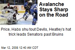 Avalanche Stays Sharp on the Road