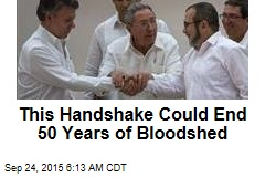This Handshake Could End 50 Years of Bloodshed