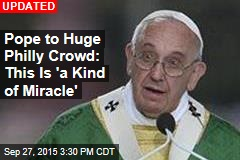 Pope Begins Mass for Hundreds of Thousands