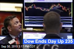 Dow Ends Day Up 235