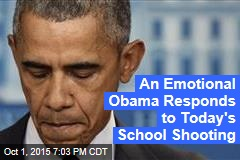 An Emotional Obama Responds to Today's School Shooting
