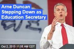 Arne Duncan Stepping Down as Education Secretary