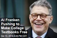 Al Franken Pushing to Make College Textbooks Free