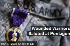 Wounded Warriors Saluted at Pentagon