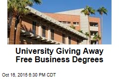 University Giving Away Free Business Degrees