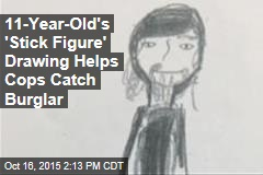 11-Year-Old's 'Stick Figure' Drawing Helps Cobs Catch Burglar