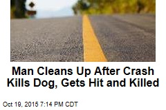 Man Cleans Up After Crash Kills Dog, Gets Hit and Killed