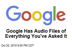 Google Has Audio Files of Everything You've Asked It