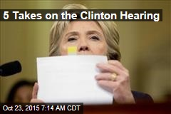 5 Takes on the Clinton Hearing