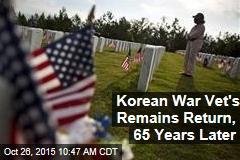 Korean War Vet's Remains Return, 65 Years Later