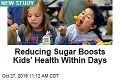 Reducing Sugar Boosts Kids' Health Within Days