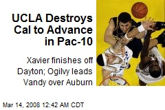UCLA Destroys Cal to Advance in Pac-10