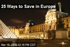 25 Ways to Save in Europe