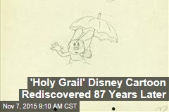 'Holy Grail' Disney Cartoon Rediscovered 87 Years Later