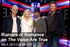 Rumors of Romance on The Voice Are True