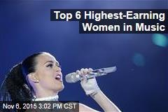 Top 6 Highest-Earning Women in Music