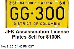 JFK Assassination License Plates Sell for $100K