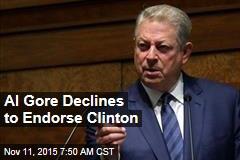 Al Gore Refuses to Endorse Clinton