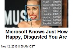 Microsoft Knows Just How Happy, Disgusted You Are