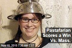 Pastafarian Scores a Win Vs. Mass.