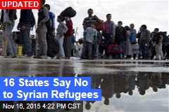 2 States Say They Won't Accept Syrian Refugees