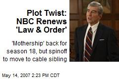Plot Twist: NBC Renews 'Law & Order'