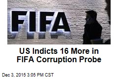 US Indicts 16 More in FIFA Corruption Probe