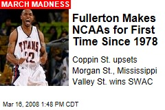 Fullerton Makes NCAAs for First Time Since 1978