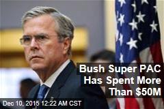 Bush Super PAC Has Spent More Than $50M
