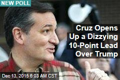 Cruz Opens Up a Dizzying 10-Point Lead Over Trump