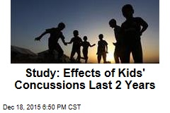 Study: Effects of Kids' Concussions Last 2 Years