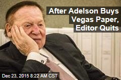 After Adelson Buys Vegas Paper, Editor Quits