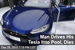 Man Drives His Telsa Into Pool, Dies