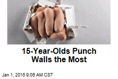 15-Year-Olds Punch Walls the Most