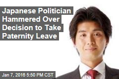 Japanese Politician Hammered Over Decision to Take Paternity Leave