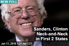 Sanders Tied With Clinton in First 2 States to Vote