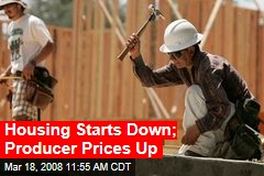 Housing Starts Down; Producer Prices Up