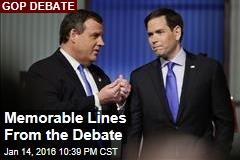 Memorable Lines From the Debate