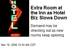 Extra Room at the Inn as Hotel Biz Slows Down