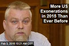 More US Exonerations in 2015 Than Ever Before