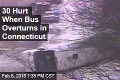 30 Hurt When Bus Overturns in Connecticut