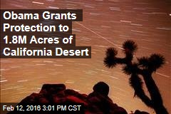 Obama Grants Protection to 1.8M Acres of California Desert