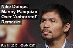 Nike Dumps Manny Pacquiao for Anti-Gay Remarks