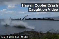 Hawaii Copter Crash Caught on Video; 1 Critically Hurt